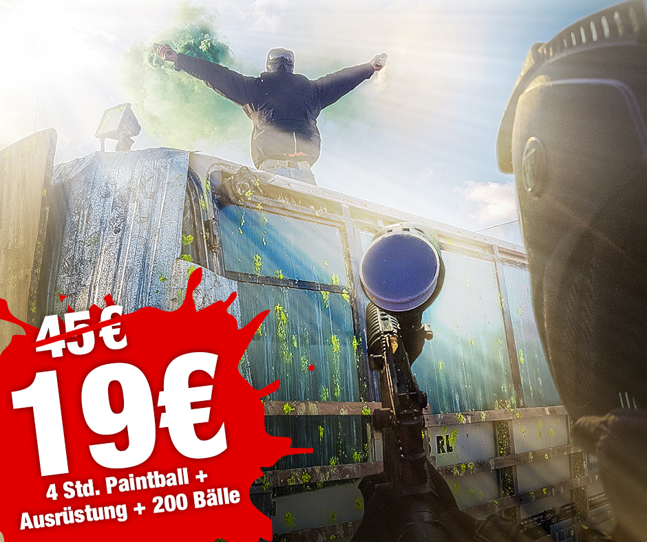 August Special: 4 Std Paintball ab 19 €